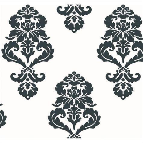 black damask wallpaper home decor bl0396 graphic damask black and white medallion damask
