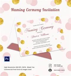 Baby Invitation Templates by 37 Naming Ceremony Invitations Free Psd Pdf Format