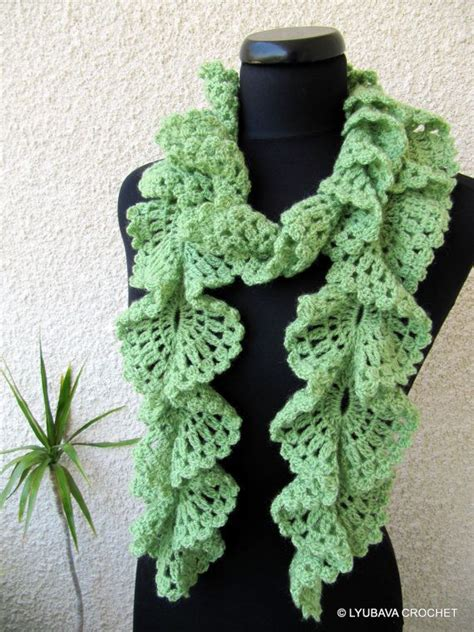 pattern for knitted scarf with ruffle free crochet ruffled scarf patterns yahoo search results