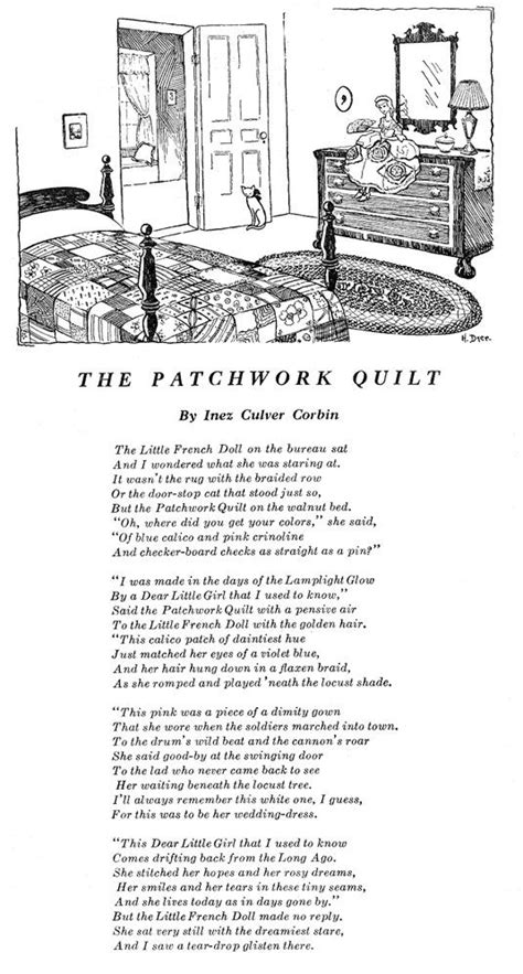 Patchwork Poem - the patchwork quilt from home arts needlecraft magazine