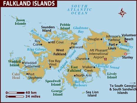 map of the falkland islands map of falkland islands