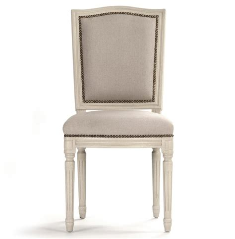 Burlap Dining Chairs Pair Benoit Country Linen Burlap Antique Ivory Dining Side Chair Kathy Kuo Home