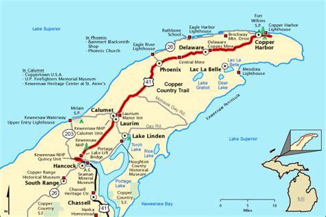 copper trail map michigan trail maps