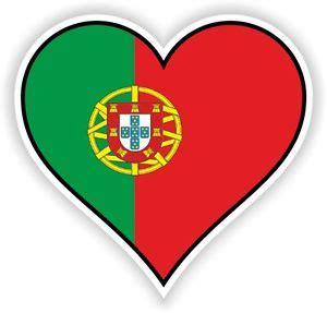 portugal heart vinyl sticker bumper decal gift love flag