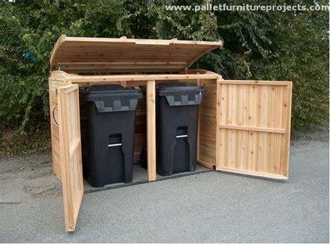 diy outdoor trash can cabinet pallet storage cabinet in outdoor jpg 640 215 475 garbage