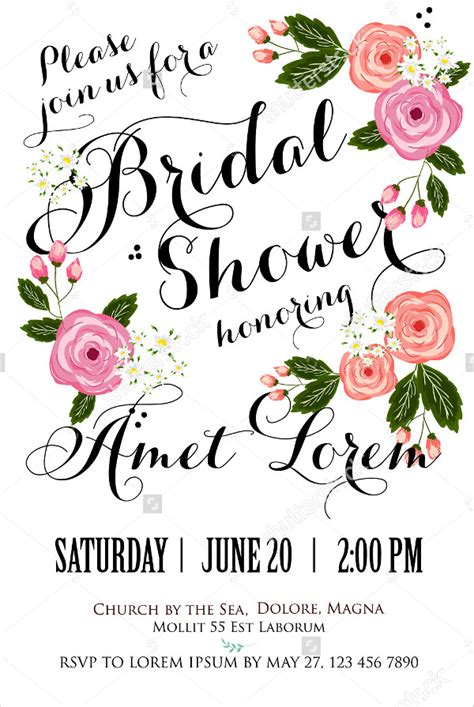 wedding shower card template 20 bridal shower invitations free psd vector eps png