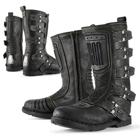 cheap motorcycle riding boots 245 00 icon 1000 collection elsinore leather boots 137484