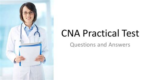 cna practical test questions and answers