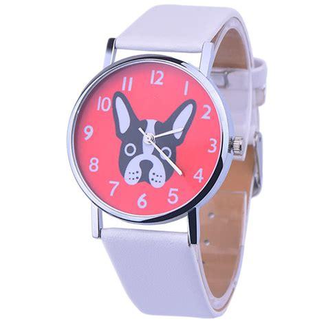 2016 wrist watches faux leather band analog quartz