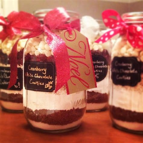 homemade cookie mixes in mason jars for christmas gifts