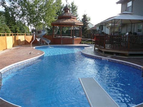 inground pool designs completed inground swimming pools landscaping