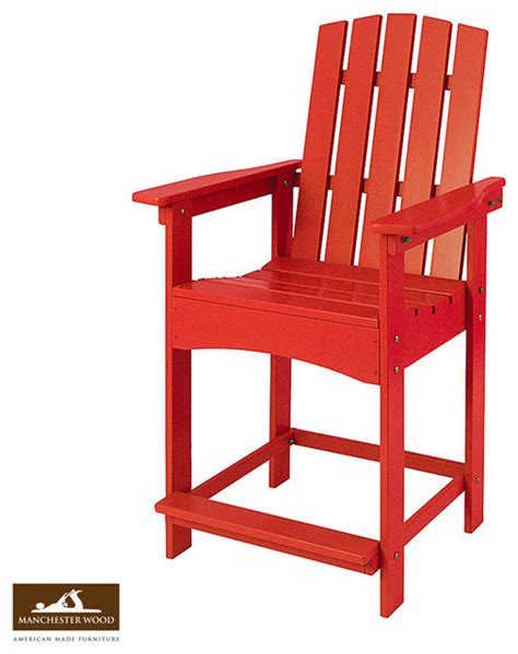 adirondack high top table high top adirondack chair by manchester wood style