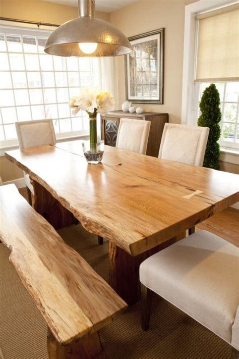 live edge dining room table live edge dining room table leather backrest and seat