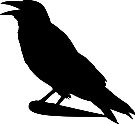 crow silhouette clip art at clker com vector clip art