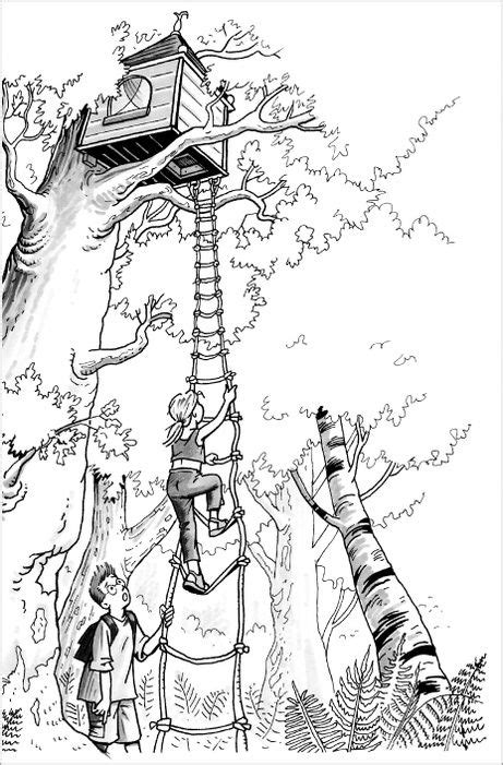 Coloring Page Magic Tree House | magic tree house coloring pages jack and annie magic