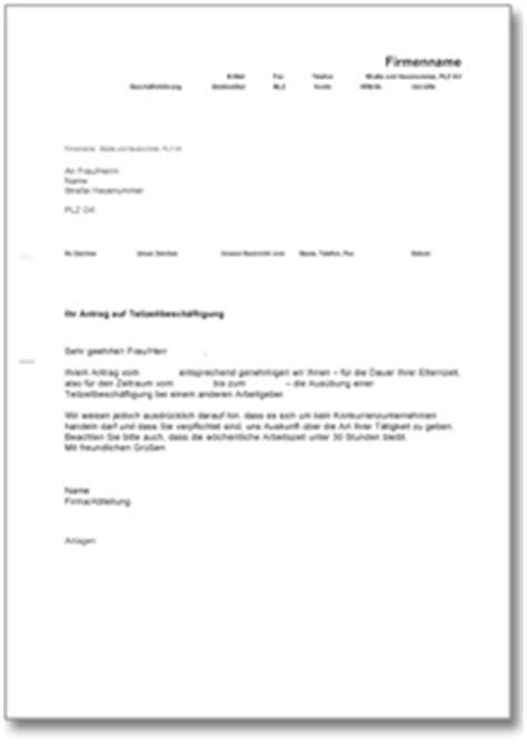 Antrag Teilzeit Vorlage Muster dehoga shop bewilligung teilzeitarbeit kaufen