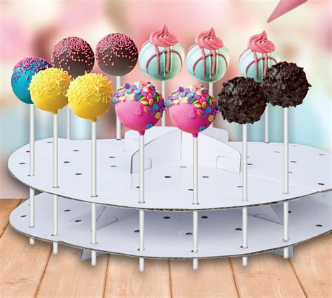 cake pop holder diy cake pop stand decoration lollipop decorating display cardboard holder 44pcs new 8711252541822