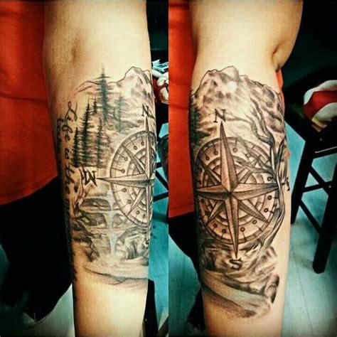 natural tattoo ink compass nature tattoos tattoos