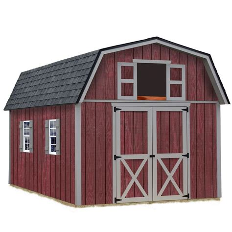 diy shed kit home depot best barns woodville 10 ft x 12 ft wood storage shed kit woodville 1012 the home depot