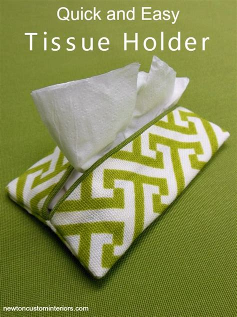 fabric crafts quick and easy tissue holder yes you can diy sewing