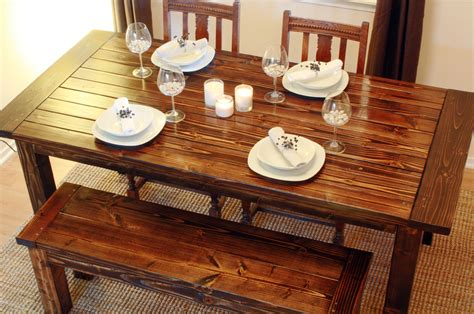 How To Make A Rustic Dining Room Table Pdf Diy Table Plans Dining Steel Weight Bench