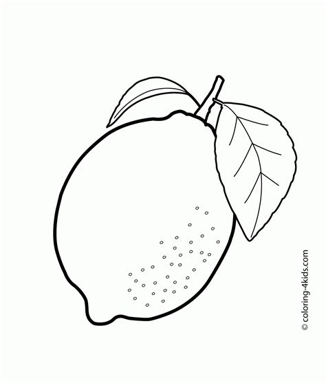 N Drawing Images by Mango Drawing For One Lemon Fruits Coloring Pages For
