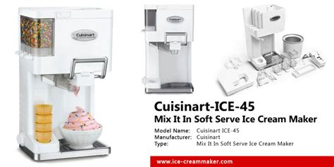 Cuisinart Mix It In Maker by Cuisinart 45 1 5 Quart Mix It In Soft Serve