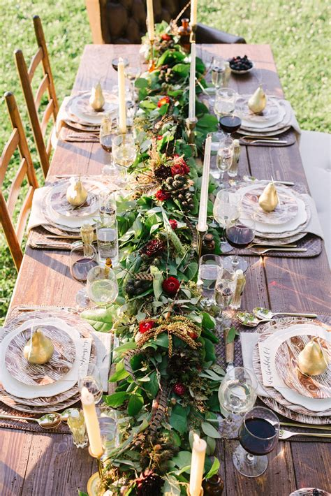 Outdoor Thanksgiving Table Scape