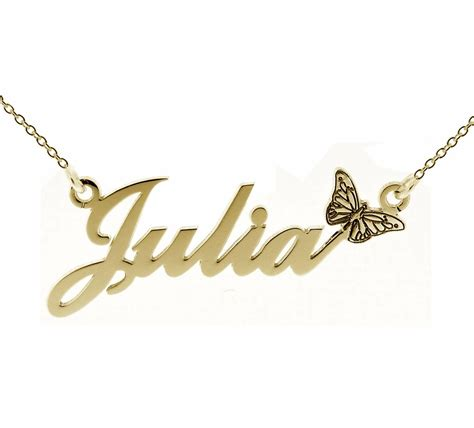 9ct gold plated any name plate necklace with hashtag