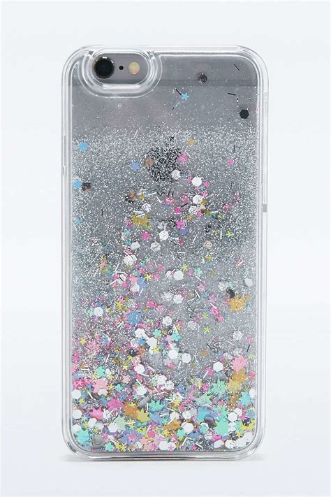 Gelitar Iphone 6 outfitters water and glitter iphone 6 in silver