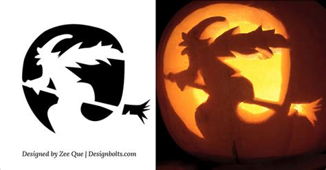 witch pumpkin template 15 free printable scary pumpkin carving stencils