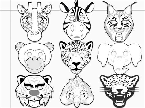 zebra mask coloring page jungle animals printable coloring masks by