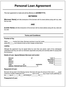 personal loan forms free template free printable personal loan agreement form generic