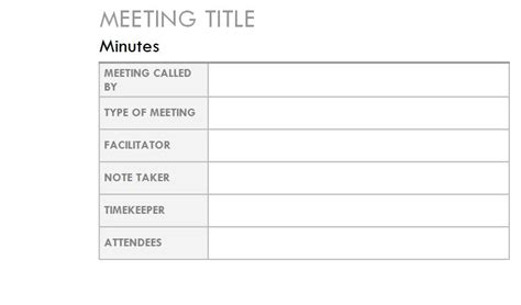 outlook meeting minutes template outlook meeting notes