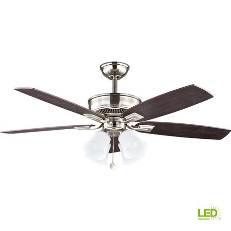 A Guide To Where Nickel Ceiling Lights Best Match Warisan Lighting Hton Bay Devron 52 In Led Indoor Brushed Nickel Ceiling Fan With Light Kit 57233 The Home