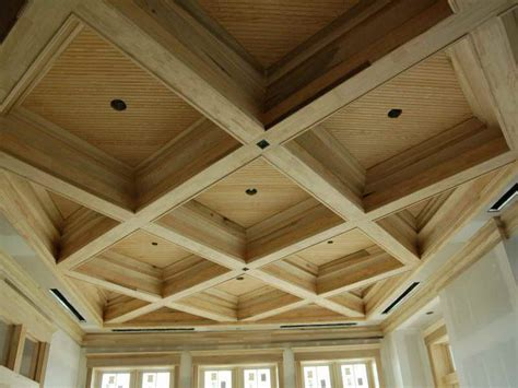 decke holzbalken faux ceiling beams ideas modern ceiling design