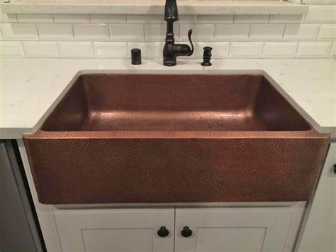 Home Depot Farmhouse Sink by Farmhouse Hammered Copper Apron Sink Only 479 00 At Home
