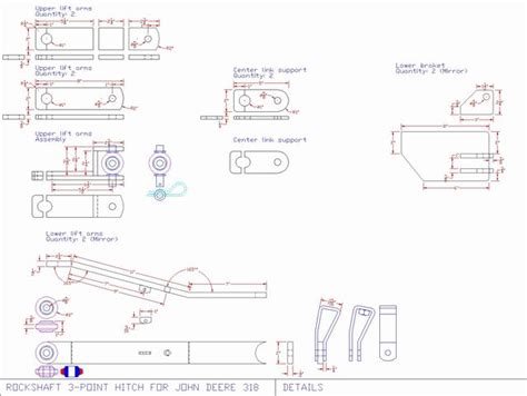 3 point hitch dimensions diagram 318 3pt deere tractor forum gttalk