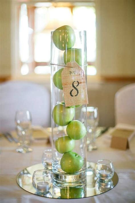 ideas for centerpieces simple wedding centerpieces with green appleswedwebtalks