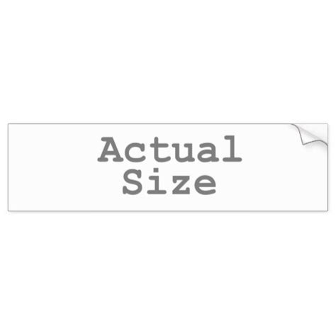 Bumper Sticker Size