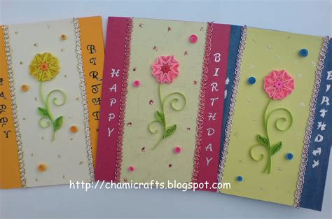 Handmade Birthday Card Design - chami crafts handmade greeting cards february 2011