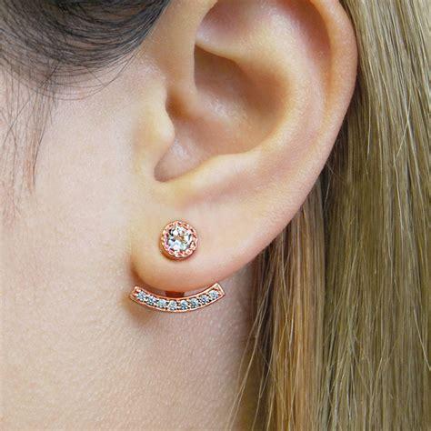 Ear Jackets gold and topaz ear jacket earrings by embers gemstone