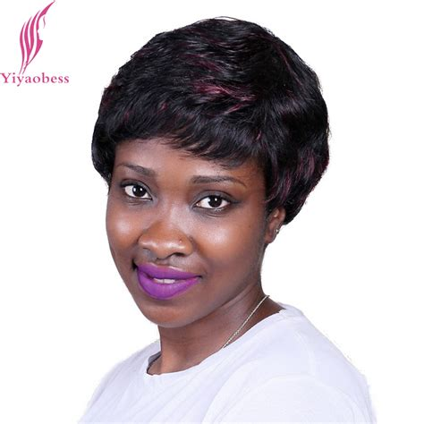 short wigs for older women yiyaobess 25cm heat resistant puffy curly african american