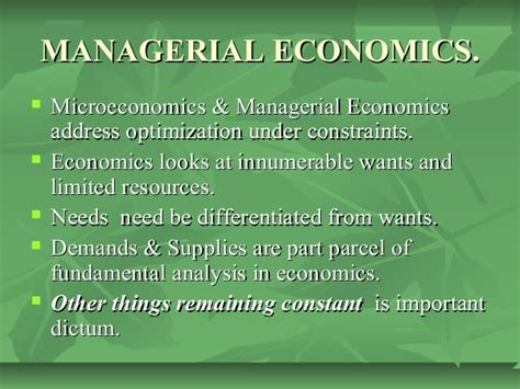 Nature And Scope Of Managerial Economics Mba by Managerial Economics