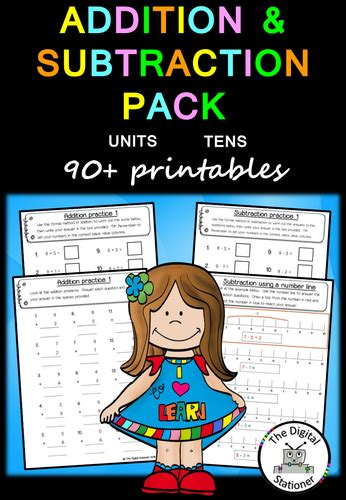 addition and subtraction of whole addition and subtraction of whole numbers worksheet by