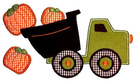 Pumpkin Dump Truck Applique Design dumptruck pumpkins applique design