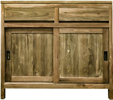 reclaimed kitchen cabinet doors reclaimed wood cabinet with sliding doors the kali