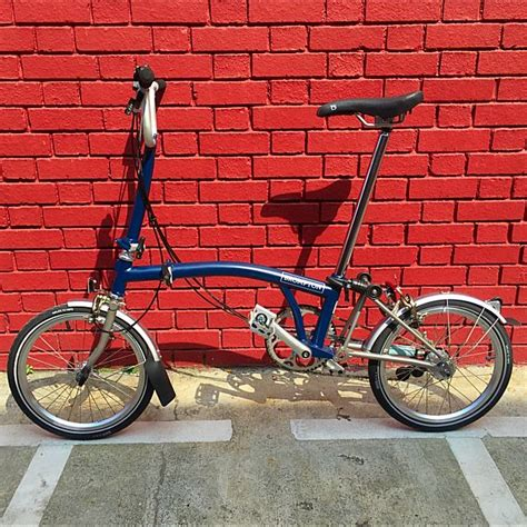 Brompton S6rx Tempest Blue Titanium Bromptonwilliamong S Items For Sale On Carousell