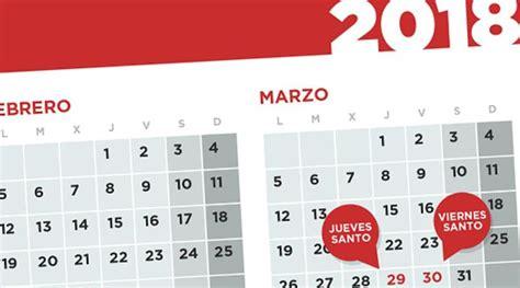 Calendario 2017 Con Festivos Nacionales El Calendario Laboral De 2018 Recoge 13 Festivos Nacionales