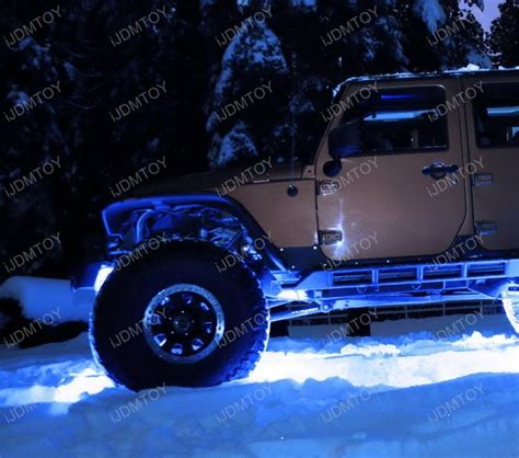 Rock Lights Jeep Blue 3 Cree 9w High Power Led Rock Light Kit For Jeep